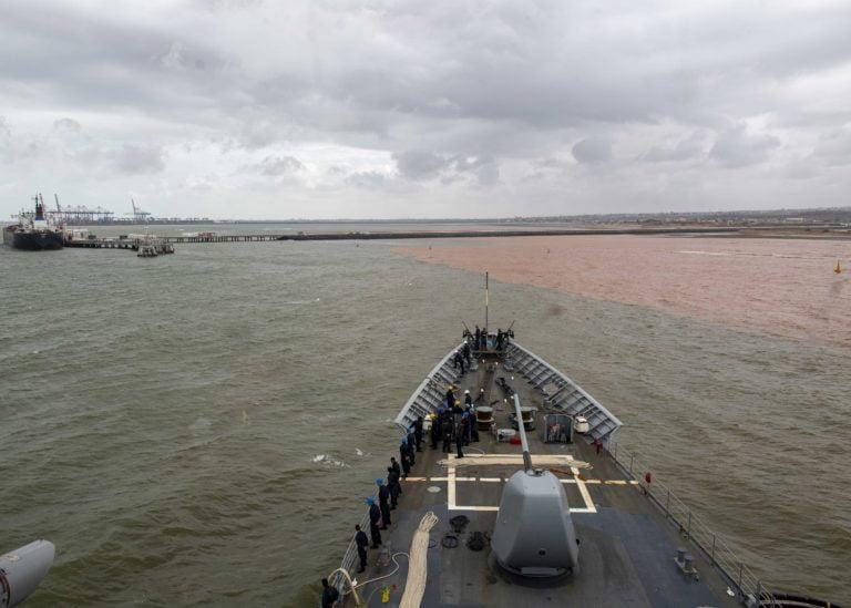 Uss Normandy Refuels In Djibouti