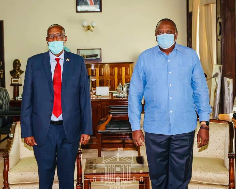 Somaliland President Meets with Uhuru Kenyatta