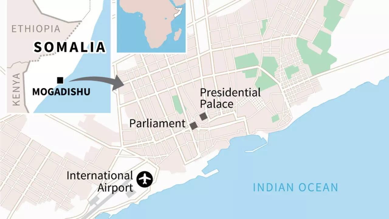 Map of Somalia's capital Mogadishu